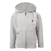 Core Fleece Zip Hoody Vintage Grey Heather