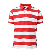 Y/D Stripe Polo True Red