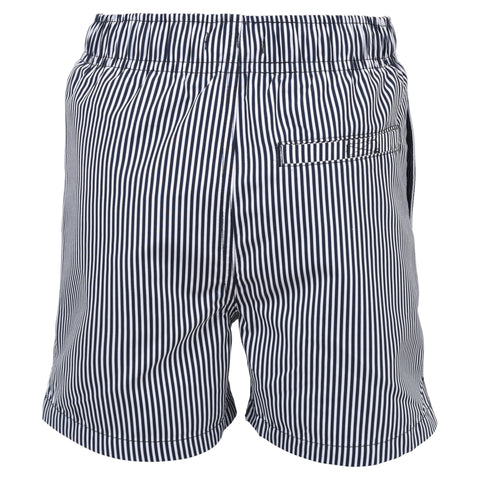 Searsucker Stripe Swim Short Navy