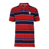 Engineered Stripe Polo True Red