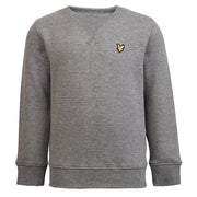 Boy's Lyle & Scott Core Plain Crew Neck Fleece Vintage Grey Heather