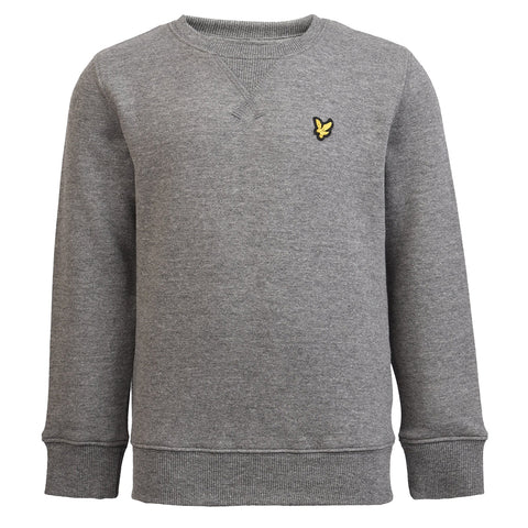 Boy's Lyle & Scott Core Plain Crew Neck Fleece Deep Indigo