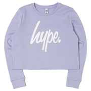 Girls Hype Lilac  Kids Crop Crewneck