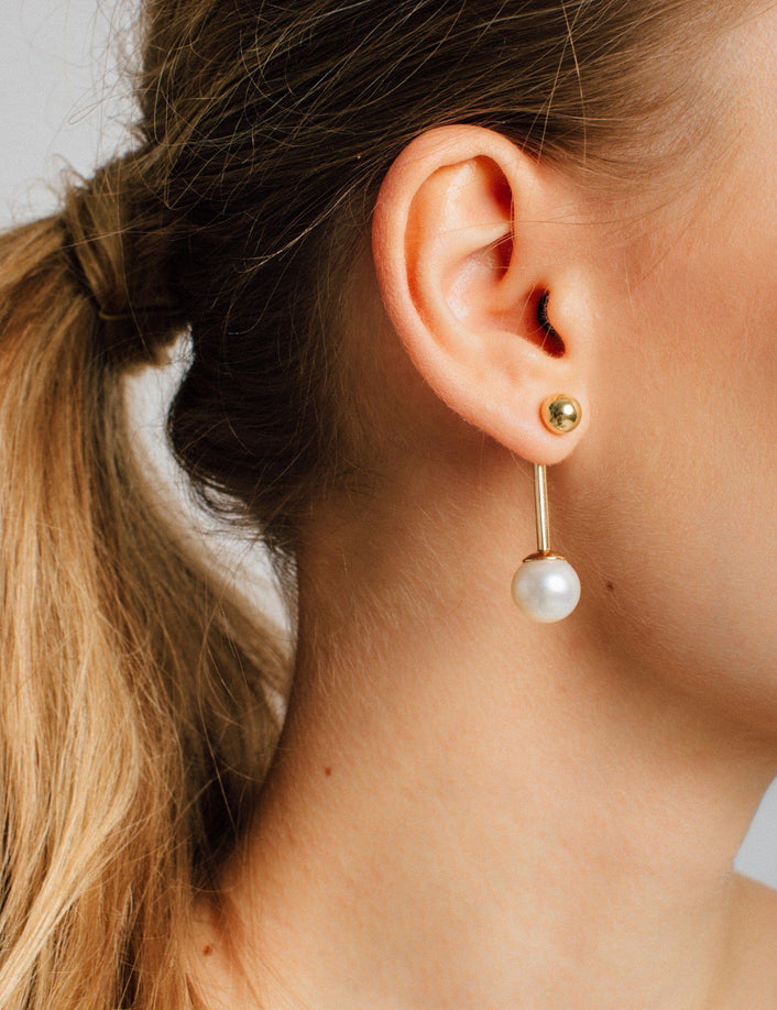 Asymmetric Pearl Ear Jacket