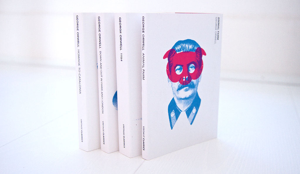 Penguin Vintage commissioned me to create the title cover artwork of last published versions of George Orwell books