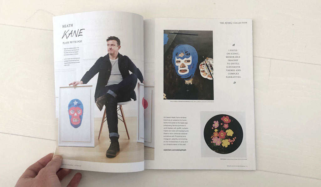 Saatchi Art Magazine featuring various artworks by Heath Kane