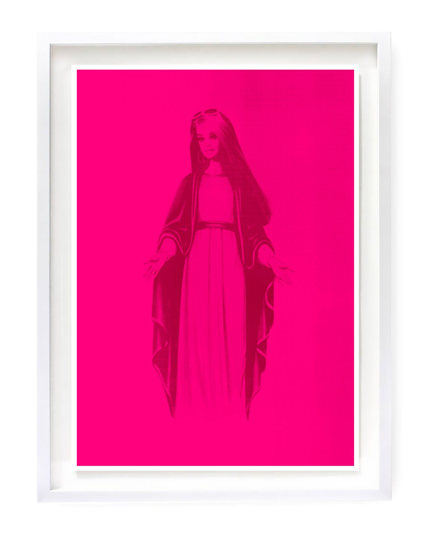 In Brands we Trust, Barbie silkscreen by Heath Kane