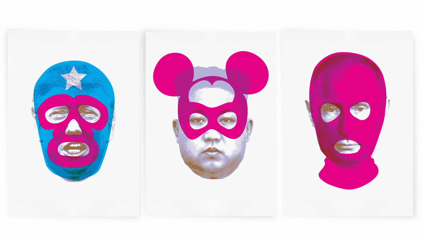 Masks of Fear - Giclée Set (includes all 3 prints)