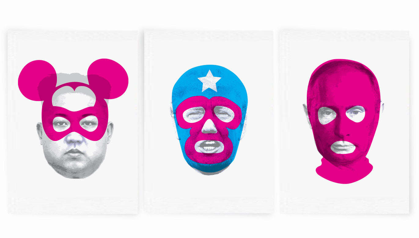 Masks of Fear - Triptych (includes all 3 prints)