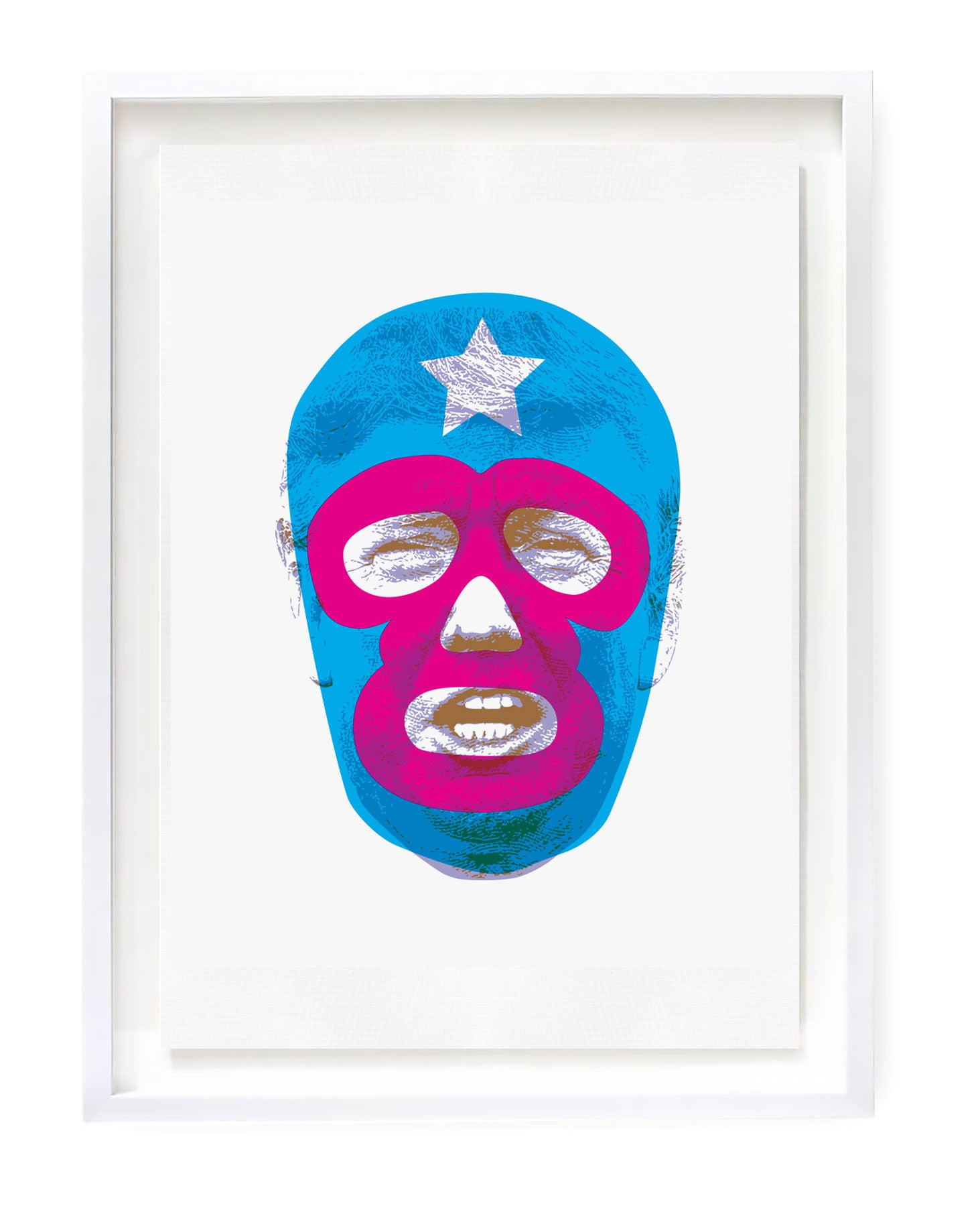Art Print featuring Donald Trump wearing Pussy Riot Mask