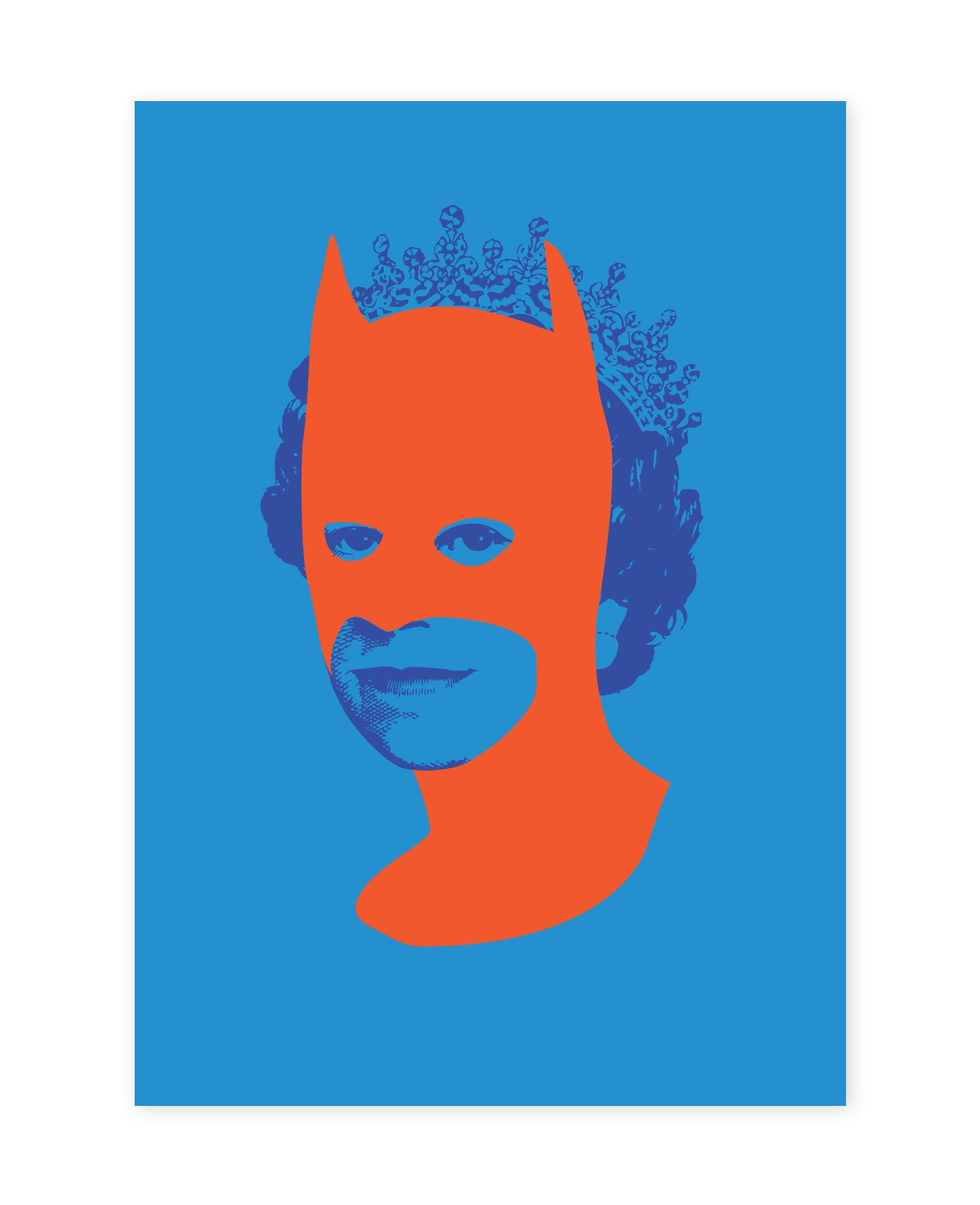 Rich Enough to be Batman - Blue and Orange A5 size