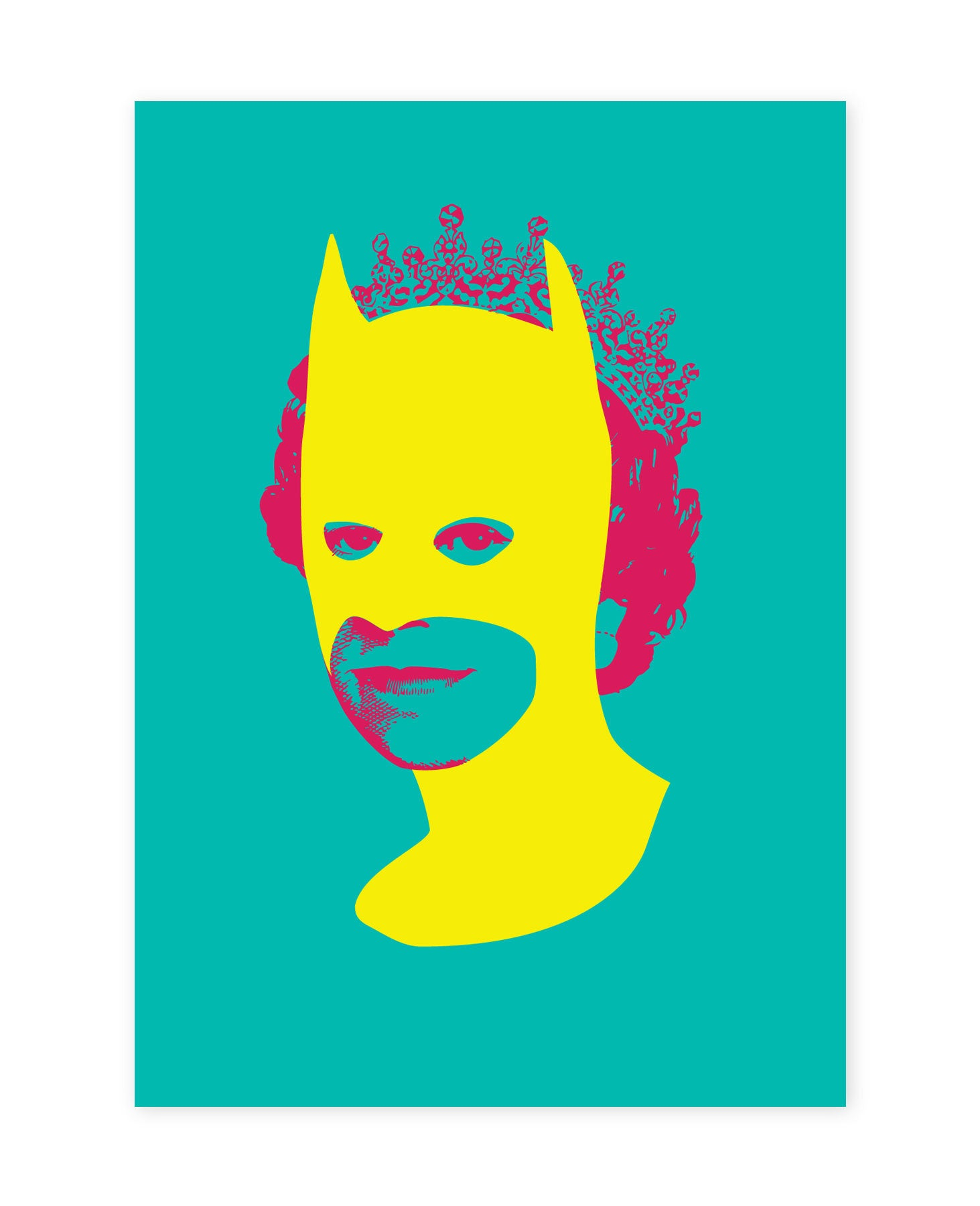 Rich Enough to be Batman - Green and Yellow A5 size