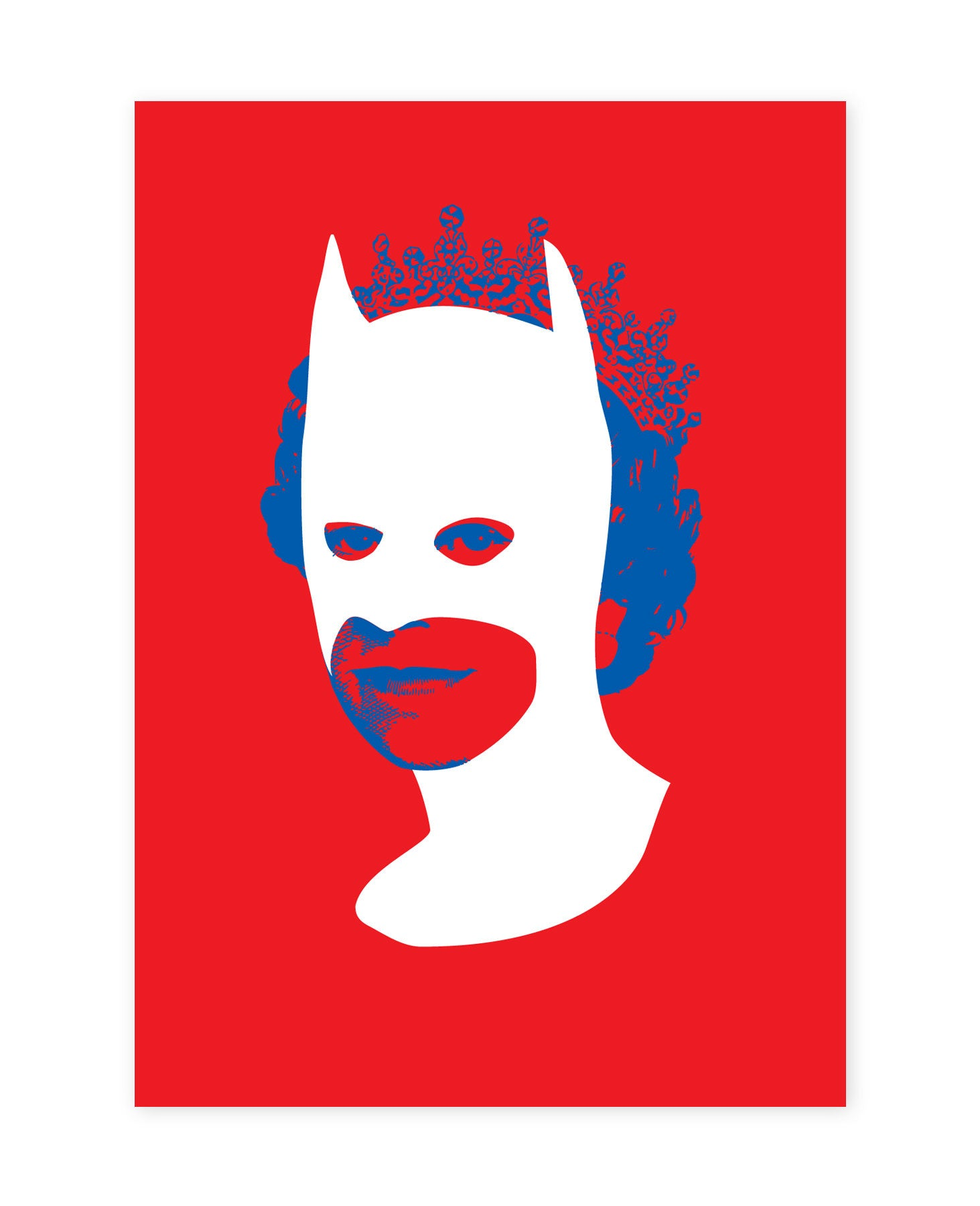 Rich Enough to be Batman - Red, White and Blue A5 size