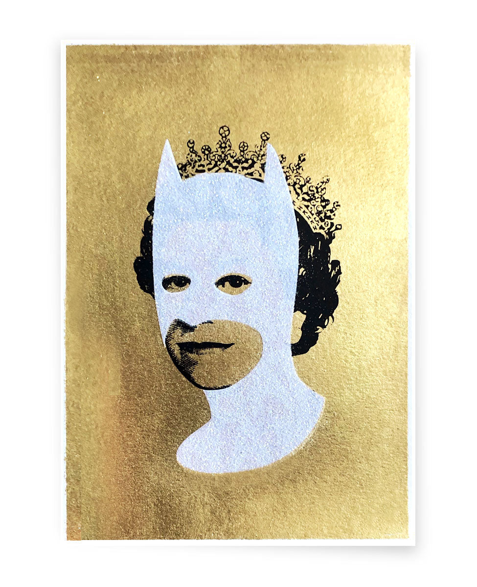 Rich Enough to be Batman - Gold Leaf and Diamond Glitter A5