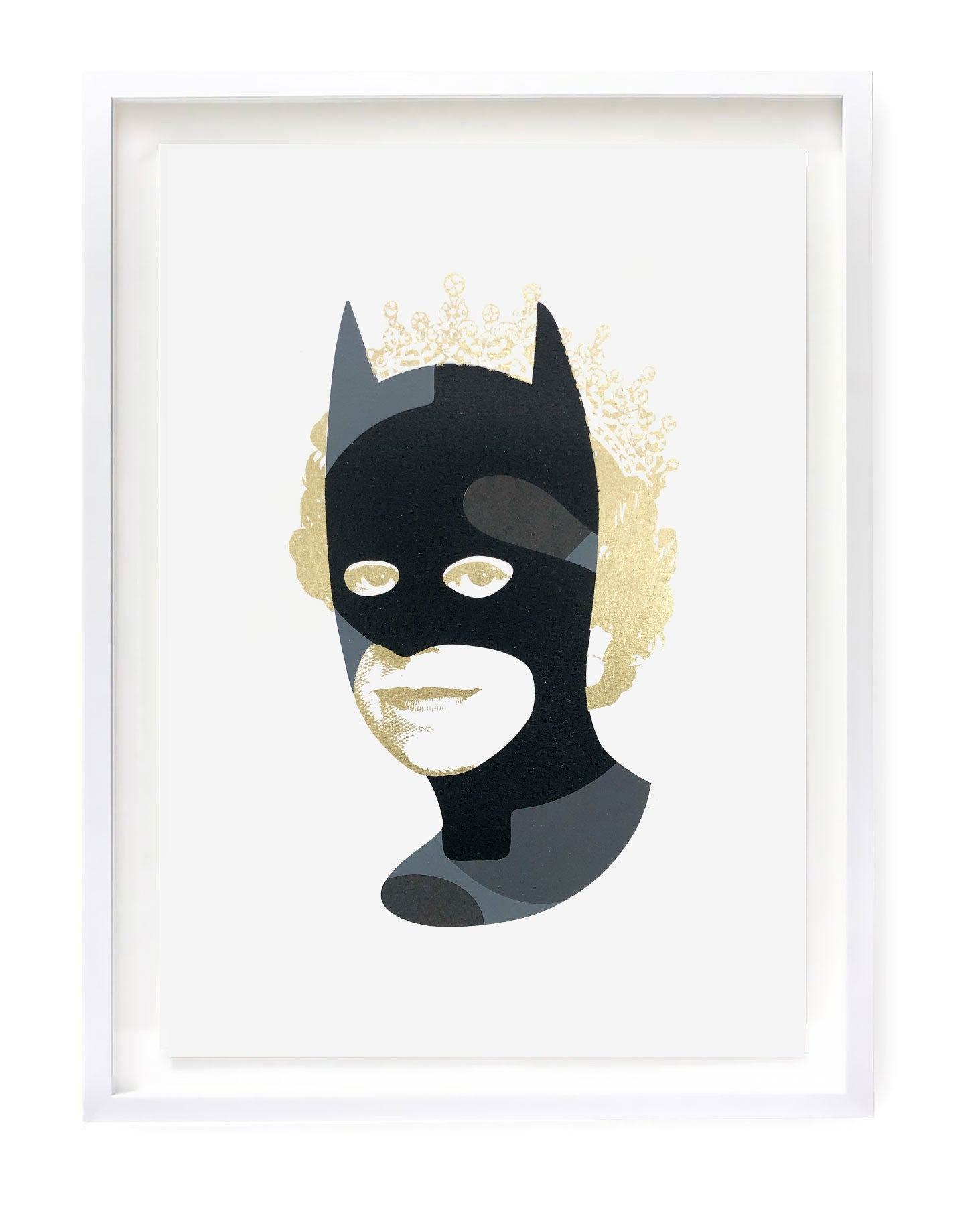 Rich Enough to be Batman - Black and Gold Dollar Sign A3 edition