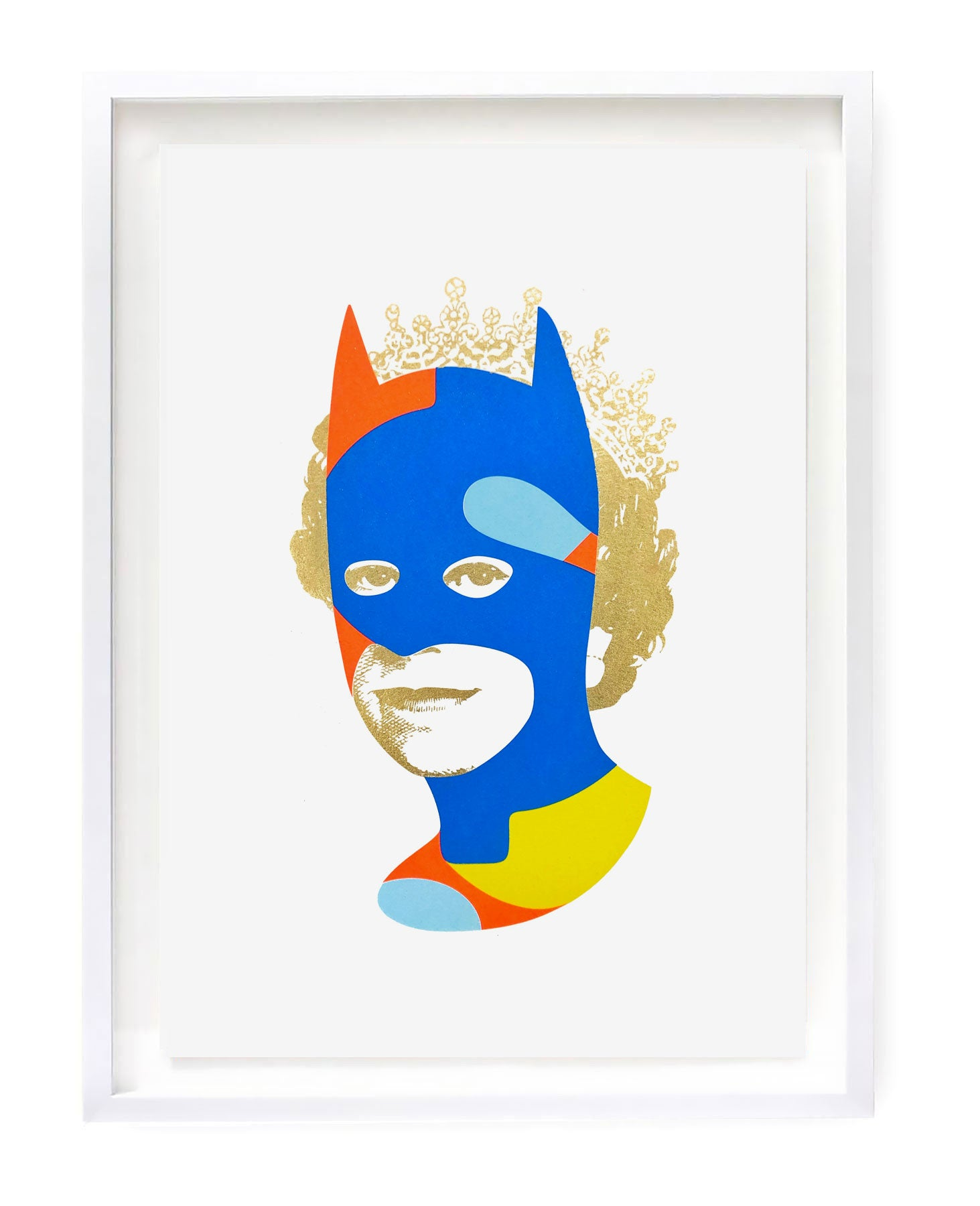 Rich Enough to be Batman - Blue and Gold Dollar Sign A3 edition