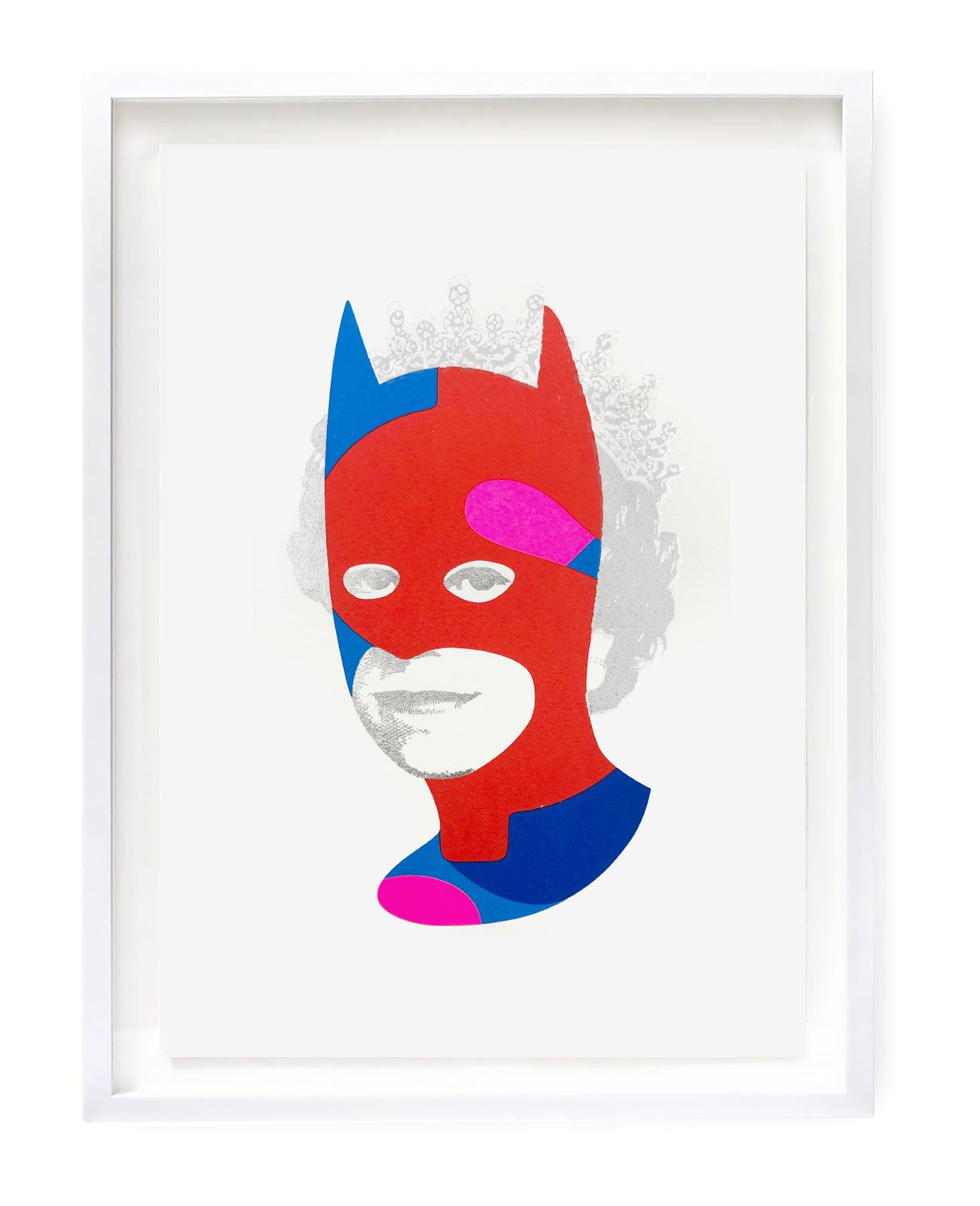 Rich Enough to be Batman - Red and Silver Dollar Sign A3 edition