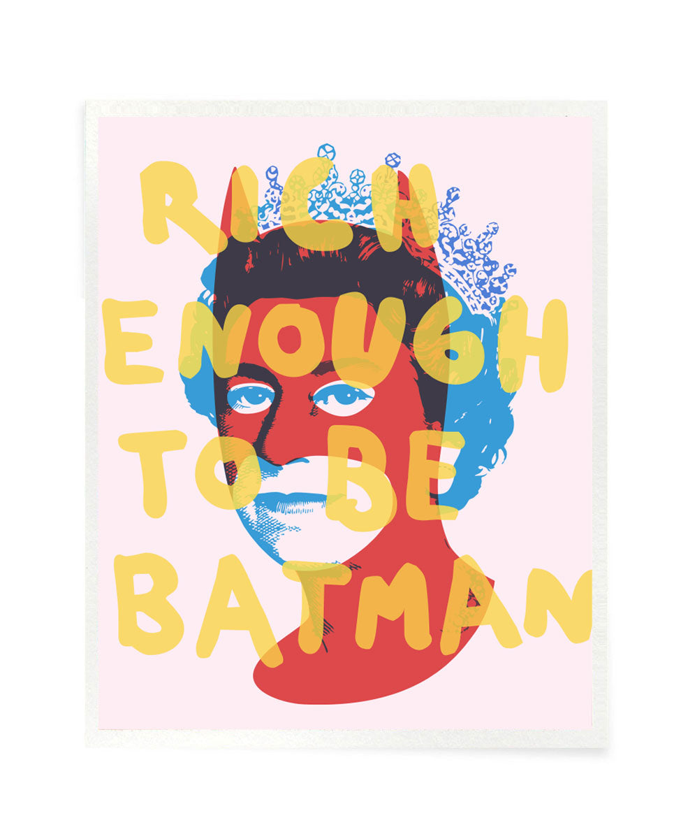 Rich Enough to be Batman - Easter Special Postcard