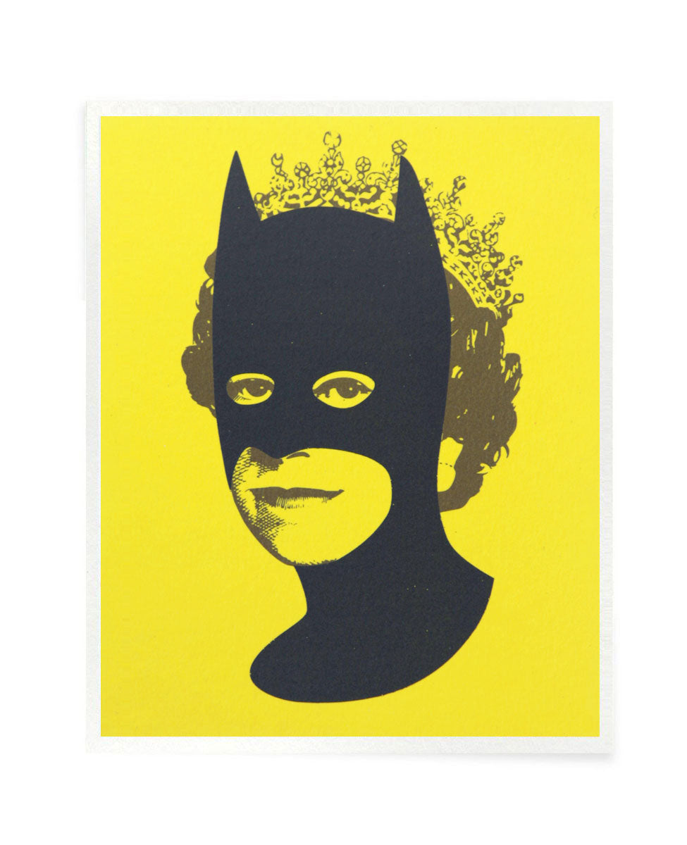 Rich Enough to be Batman - Black and Yellow Postcard Size