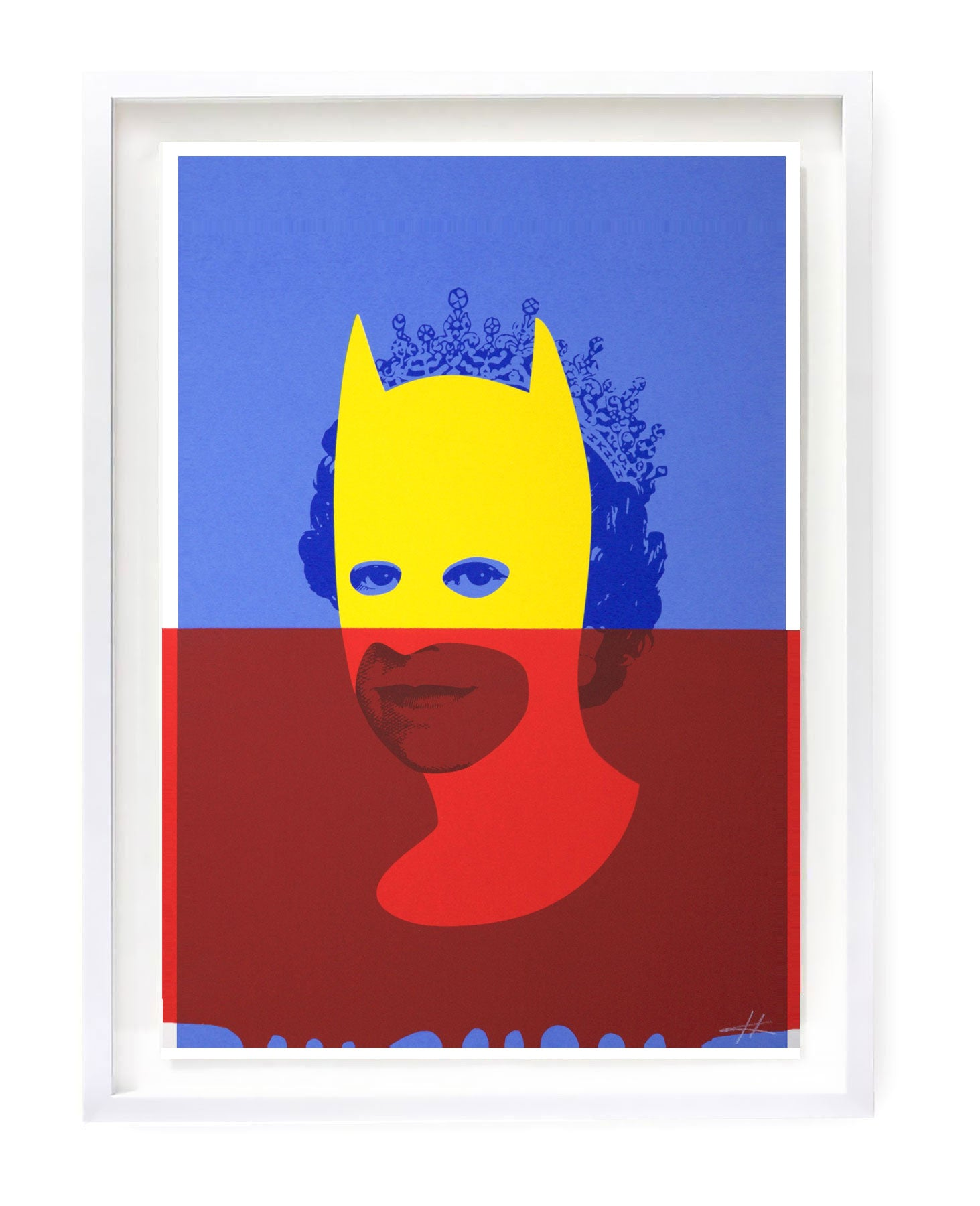Rich Enough to be Batman - Drippy Red, Yellow and Blue A3