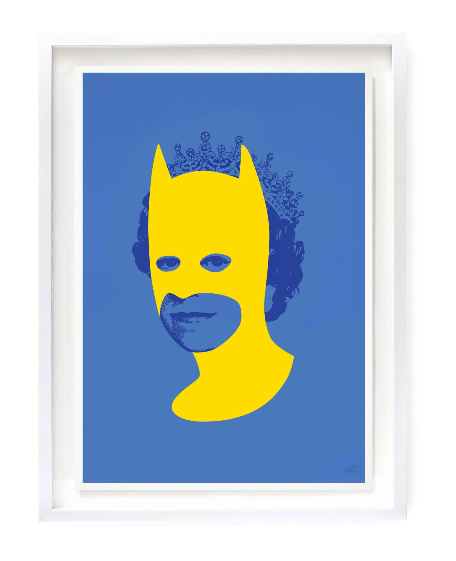 Rich Enough to be Batman - Yellow and Blue A3
