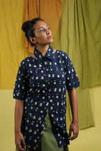 Shoulder Cut Indigo Shirt - CHHAPA
