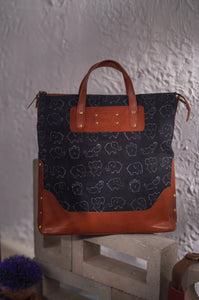 Canvas Leather Elephant Handbag - CHHAPA