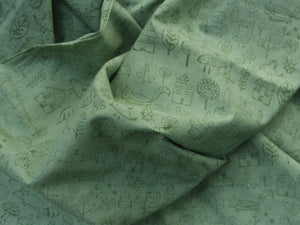 Fabric - Doodles in Sea Green