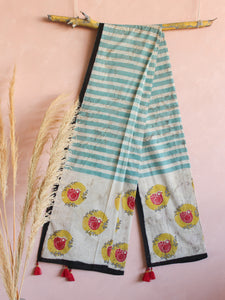 COTTON BIRD IN DWELL DUPATTA