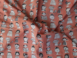 Fabric - Cartoons in Peach - CHHAPA