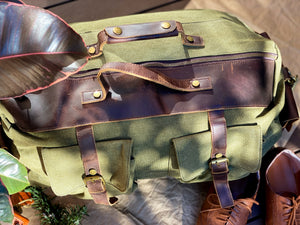 Canvas Military Green Duffle Bag
