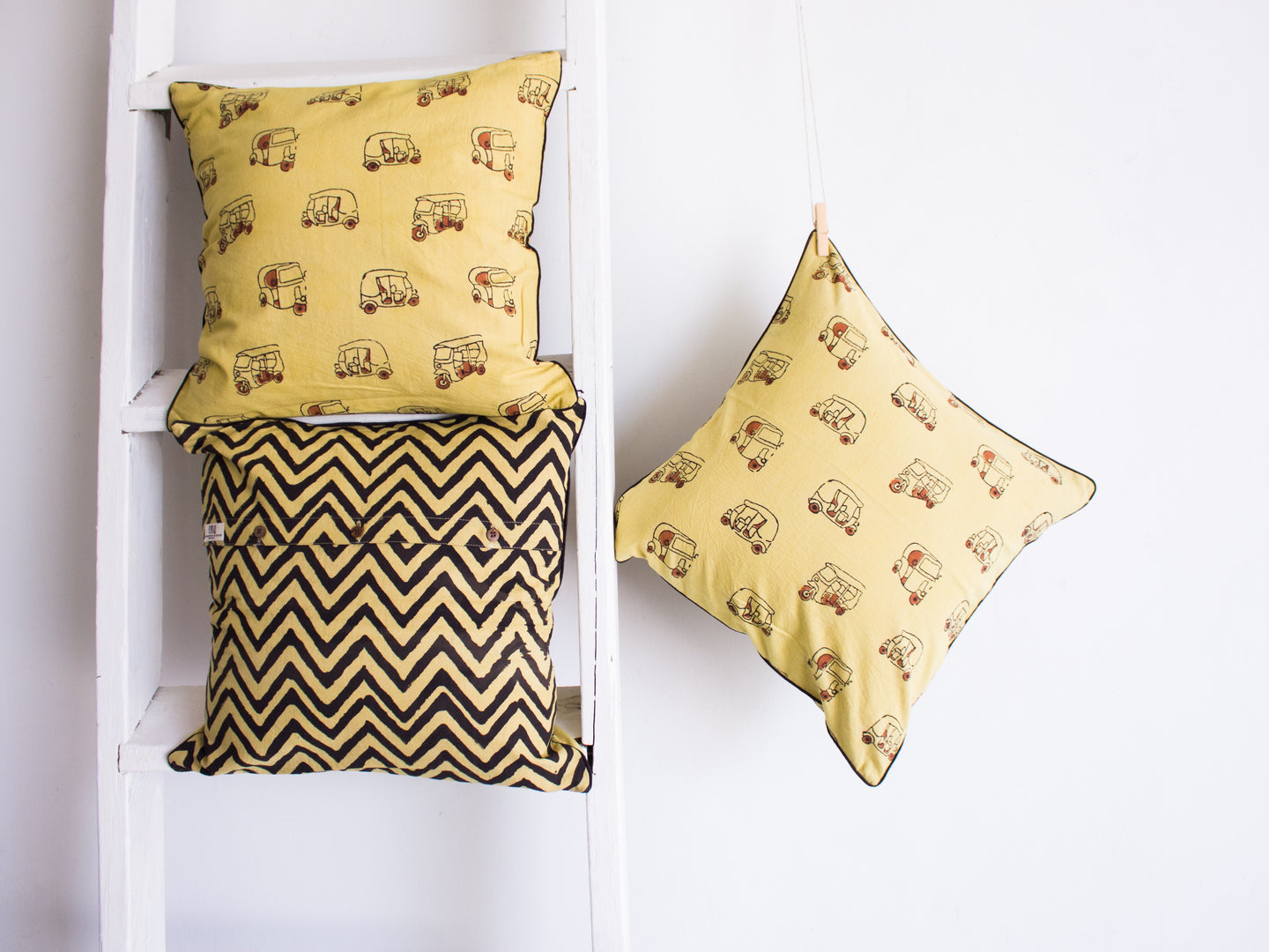 Cushion Cover- Khakhi Yellow