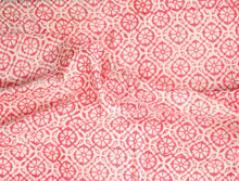 Fabric - Pink Floral Jaal - CHHAPA