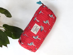 PINK FLAMINGO POUCH