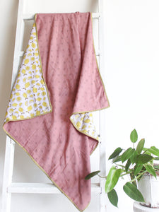 Kids Muslin Blanket with Lemons - CHHAPA