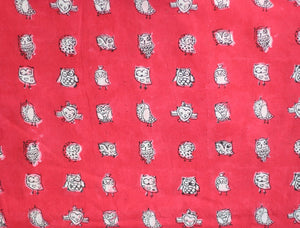 Fabric - Owls in Pink - CHHAPA