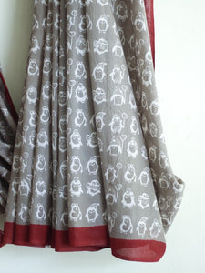 SAREE - Gray Penguins