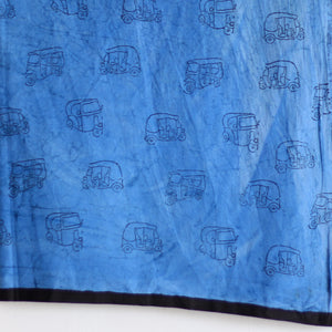 SAREE - Auto rickshaw with Indigo