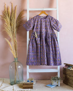 Blossom Purple Pocket Dress