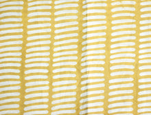 Fabric - Dash Line in Yellow