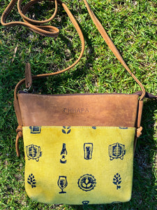 Leather Canvas Beer Sling Bag