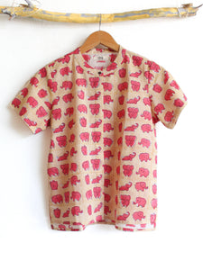 Boxy Top- Fun with Elephants - CHHAPA