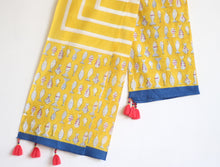 COTTON YELLOW  DUPATTA - CHHAPA