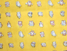 Fabric - Owls in Mustard🦉