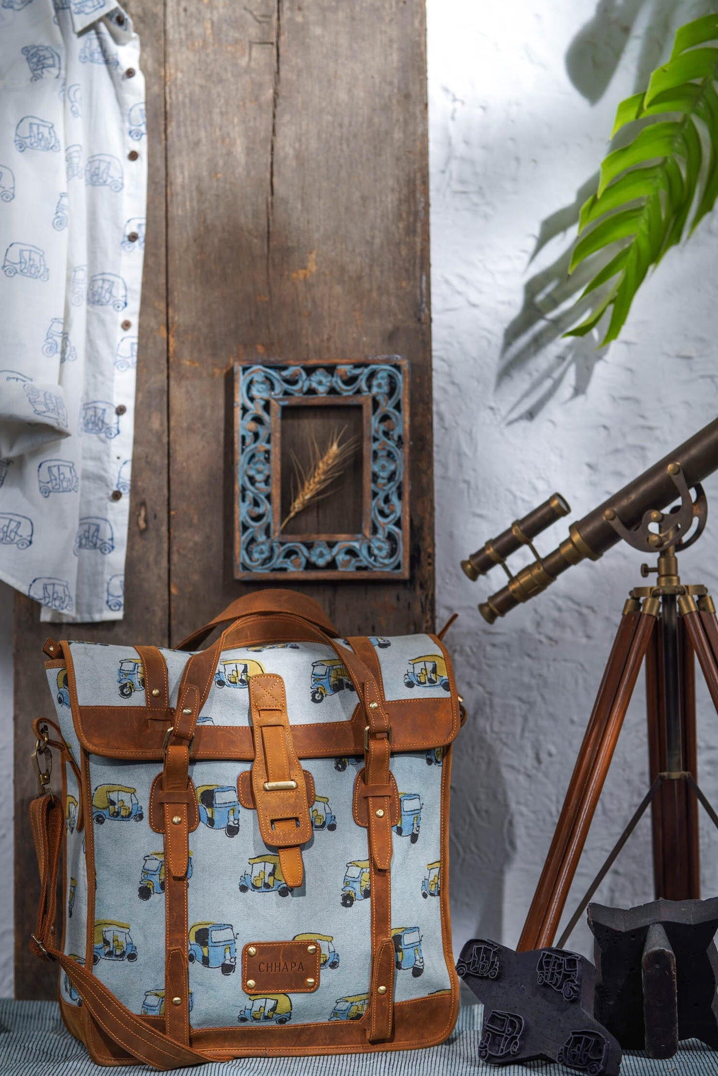 Canvas Leather Auto-Rickshaw Handbag