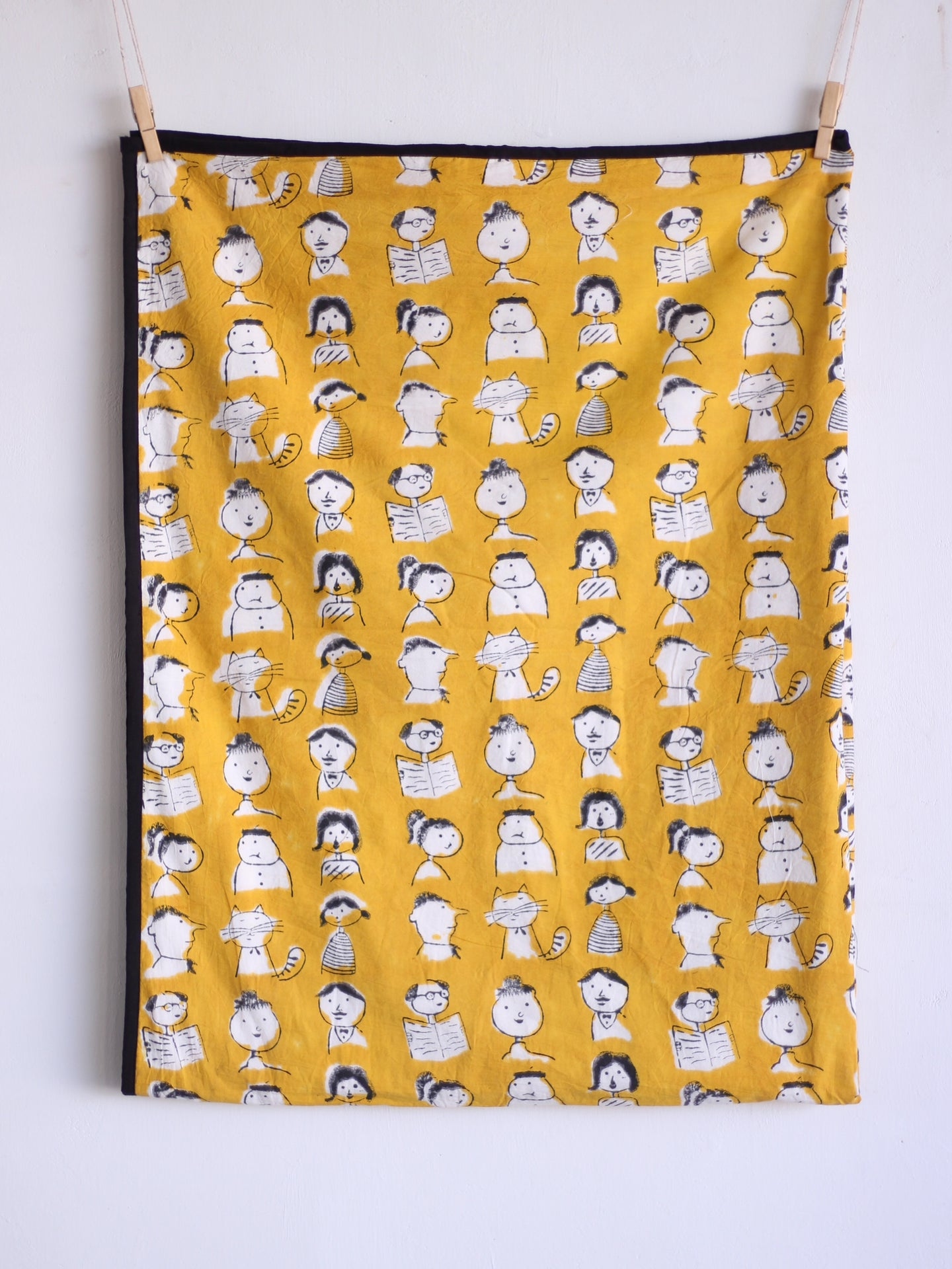 Baby Quilt - YELLOW FACES