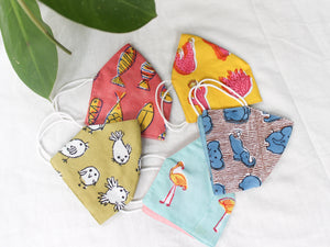 COTTON MASK- Set of 5 - CHHAPA