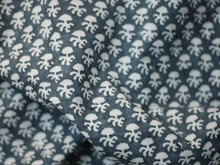 Fabric - Gray Floral Motifs
