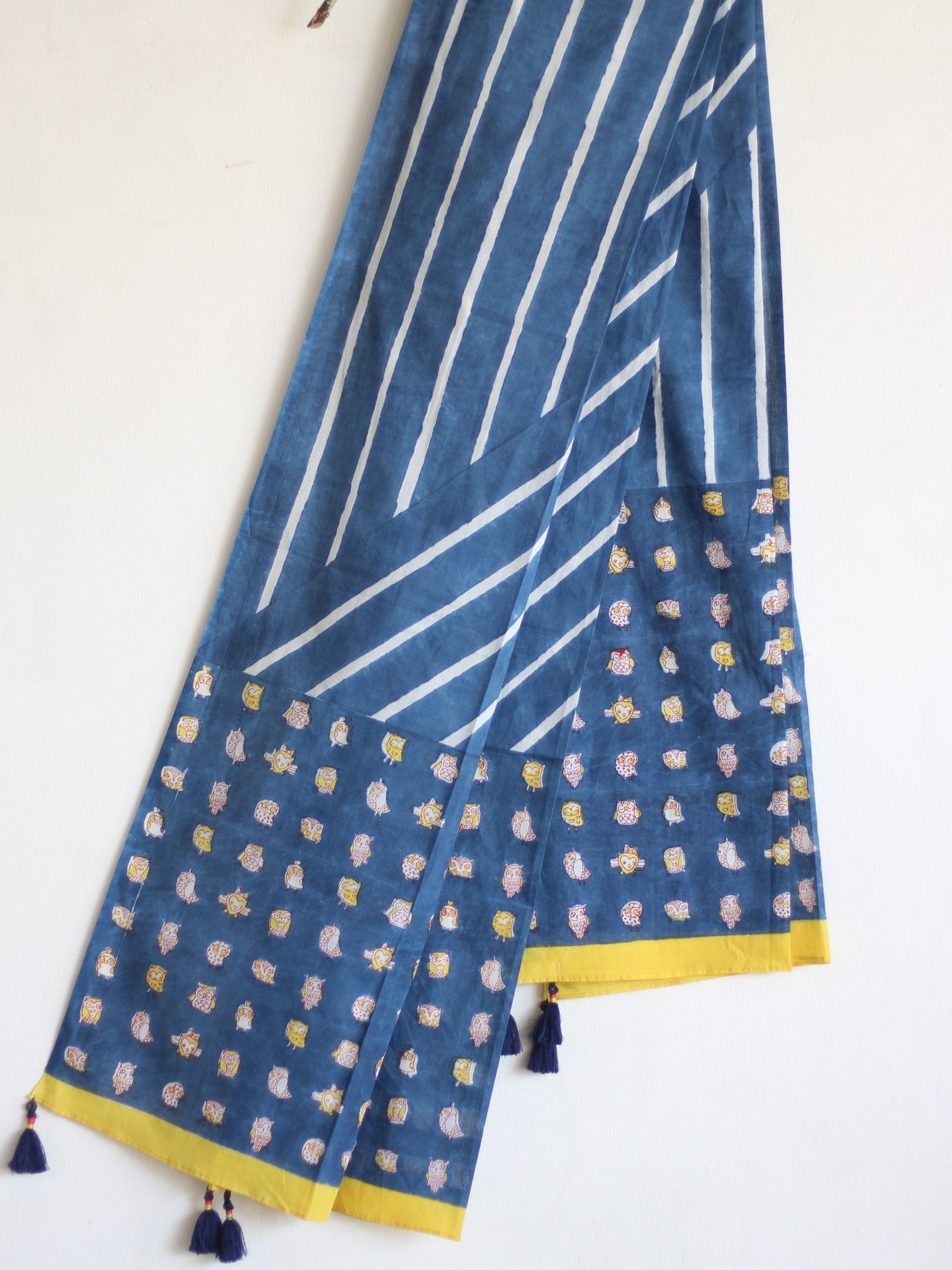 COTTON INDIGO DUPATTA