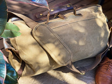 Canvas Beige Duffle Bag